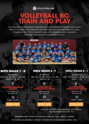 VBC Fall Train and Play Programs